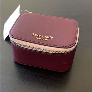 Kate Spade jewelry travel case, purple NWT